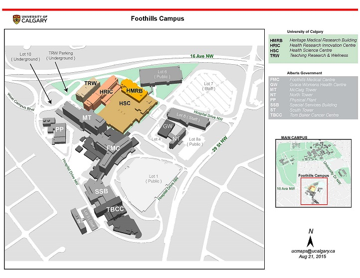 Foothills Campus Map